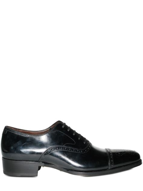maximilian shoes oxford lyst max verre brushed calfskin perforated oxford lace