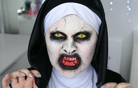 tutorial makeup valak diy movie inspired makeup inspirations for halloween