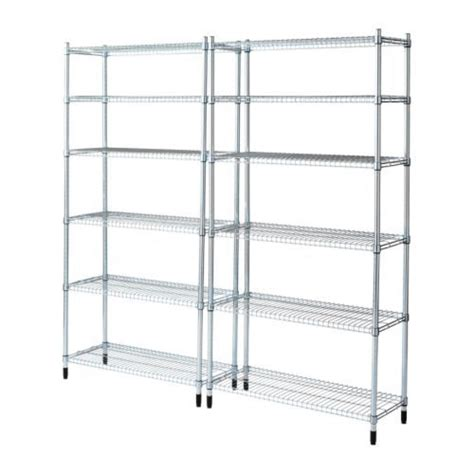 Ikea Omar Unit Rak 1 omar 2 shelf sections ikea easy to assemble no tools
