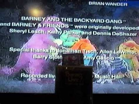s day ending song barney live in new york city end credits