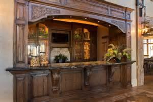 Rustic Lodge Style Home Wine Cellar Interactive Decor Idea In Houston
