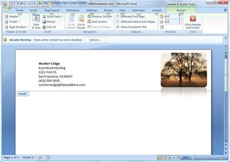 make a letterhead template in word create a letterhead template in microsoft word cnet