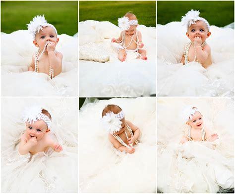 Wedding Anniversary Ideas With Newborn 6th month photo taken in s wedding dress also