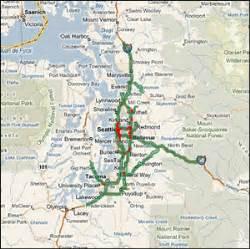 Seattle Area Traffic Map by Highway Evacuations In Selected Metropolitan Areas