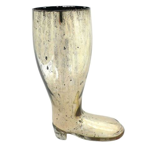 early mercury glass boot vase for sale at 1stdibs