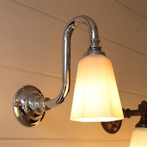 Gooseneck Bathroom Lighting Classic Bathroom Wall Light With Nickel Gooseneck