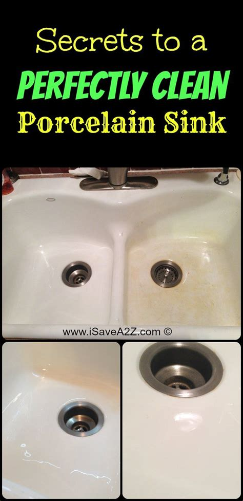 How To Remove A Kitchen Sink Drain 17 Ideas About Clean Porcelain Sink On Clean Freak Remove Rust Stains And Cleaning