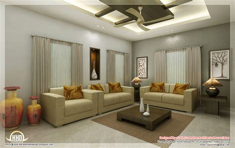 Awesome 3d Interior Renderings Kerala House Design Idea Interior Design Ideas For Living Rooms