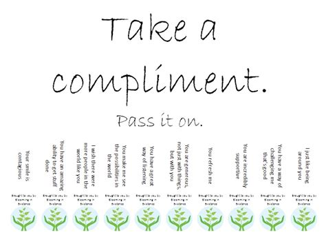 take one template take a compliment random things i