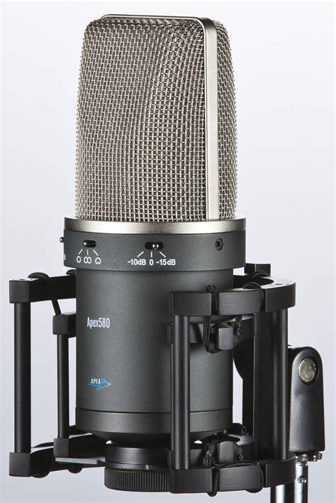 capacitor microphone apex multi pattern fet condenser microphone mcquade musical instruments