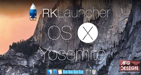 themes rk launcher rklauncher rocketdock os x yosemite skin updated by