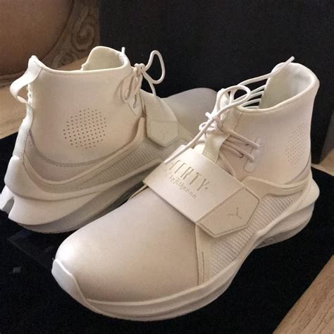 Fenty By Rihanna Size 37 40 1 fenty by rihanna whisper white the trainer hi sneakers size eu 37 5 approx us 7 5