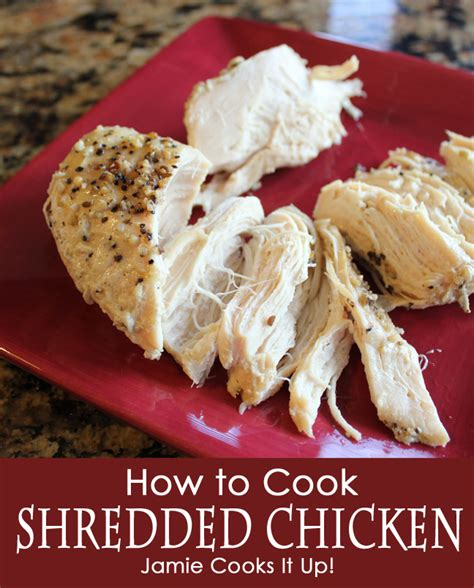 how to cook shredded chicken crock pot