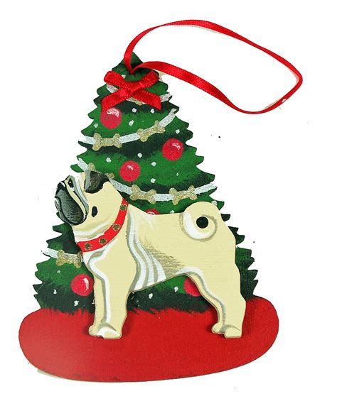 fawn pug dog lover christmas ornaments for the love of
