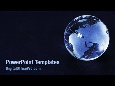 Crystal World Globe Powerpoint Template Backgrounds Globe Ppt Template Free