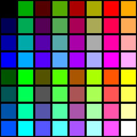 wiki colors file 6 bit rgb palette with black borders svg