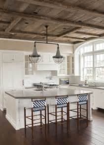 barn board ceiling east coast house with blue and white coastal interiors