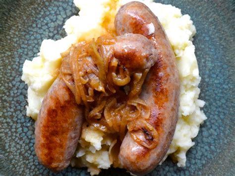 onion gravy for british bangers and mash recipe bangers and mash with onion gravy recipe serious eats