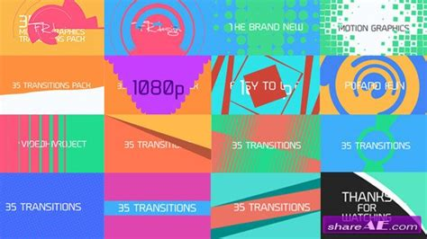 after effect motion graphics templates 35 cool motion graphics transitions videohive 187 free