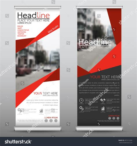 design banner publisher red roll business banner design vertical stock vector