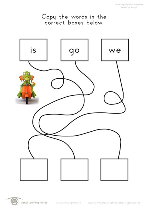 Visual Scanning Worksheets by High Frequency Words Worksheets Pdf Kindergarten Sight