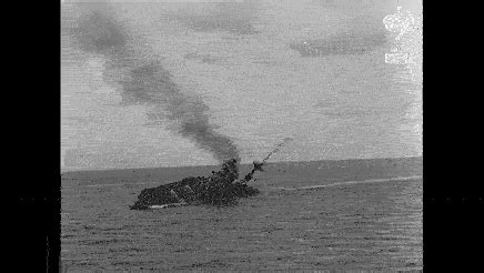 Hms Barham Sinking by The Battleship Hms Barham Explodes As She Capsizes After
