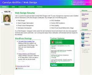 resume with new look for winter 2010 carolyn s web design
