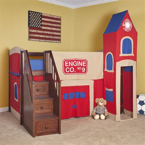 Bunk Beds For Boys With Stairs Beautiful Castle Bunk Beds With Slide And Stair Combined Pattern Wallpaper