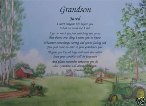 Grandson Birthday Quotes Grandson Personalized Poem Birthday Or Christmas Gift On