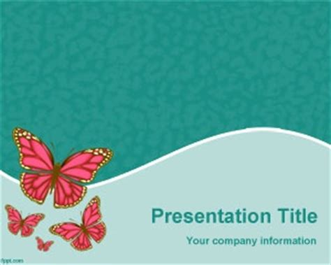 67 Best Nature Powerpoint Templates Images On Pinterest Butterfly Ppt Templates Free