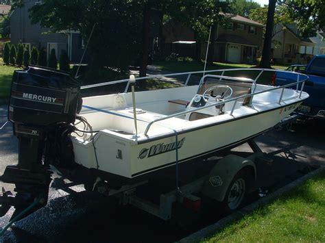 wahoo boat parts 16 6 wahoo side console 70 hp merc trailer the hull