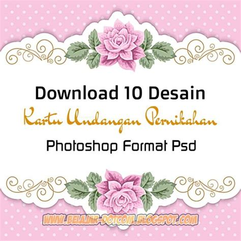 desain kartu undangan pernikahan photoshop