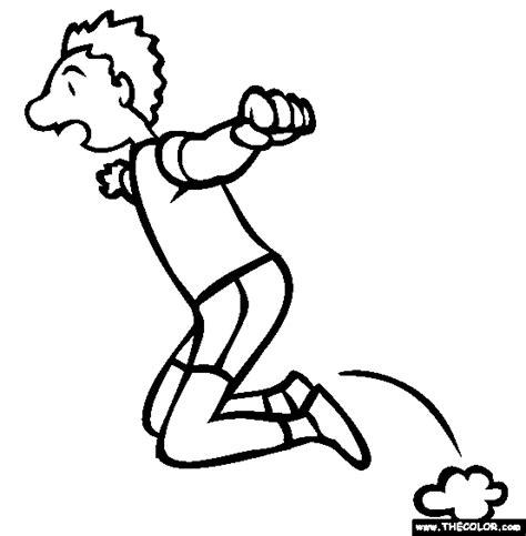 kneel jump coloring page free kneel jump coloring