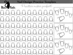 Nail Templates by Nail Design Practice Sheet Black Cat Nails