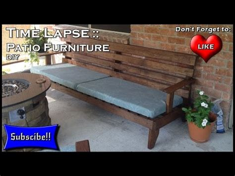 how to build outdoor furniture how to build patio furniture time lapse