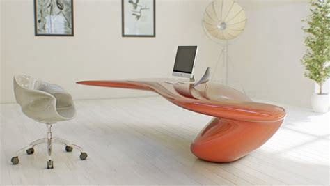 futuristic desks futuristic bright office desk of acryl digsdigs