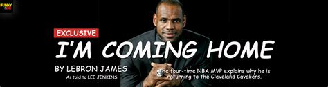 lebron s i m coming home announcement presented in comi