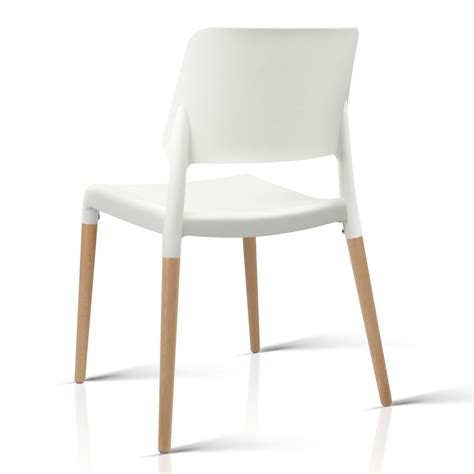 Set Of 4 White Dining Chairs Set Of 4 Belloch Replica Dining Chair White