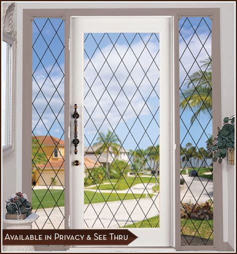 Glass Door Clings Orleans Leaded Glass Look Static Cling Window Great For Sliding Glass Doors Ebay