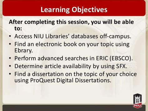 proquest digital dissertations navigating selected niu libraries resources