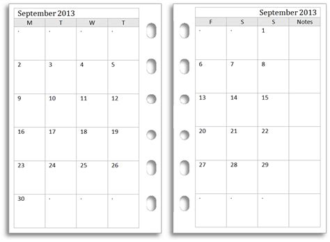 7 best images of 2 month calendar template printable
