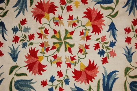 uzbek suzani silk embroidery small flowers with 372 best suzani embroidery images on pinterest