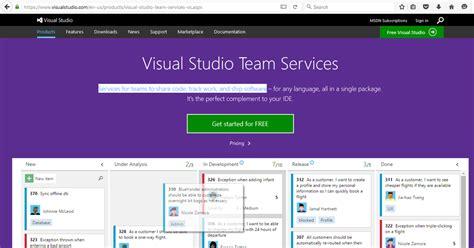Visual Studio Team Services Agile Scrum Project Management Tools Visual Studio Dashboard Template