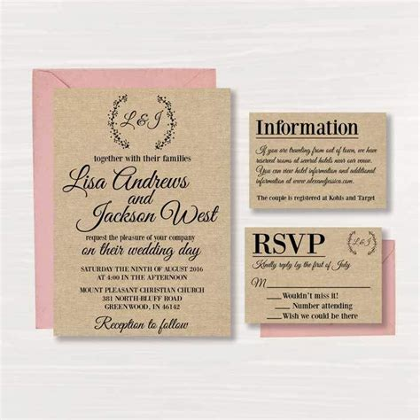 best 25 free printable wedding invitations ideas on pinterest