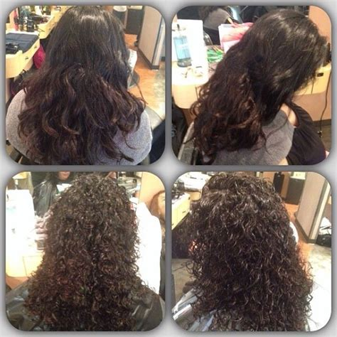 perms before and after spiral perm before and after hair pinterest spirals