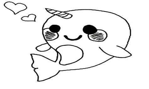 Mobile Kawaii Cute Narwhal Coloring Pages Coloring Pages Narwhal Coloring Page