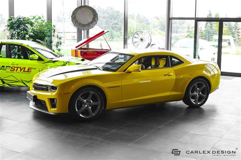 camaro designer carlex design chevrolet camaro bumblebee modified autos