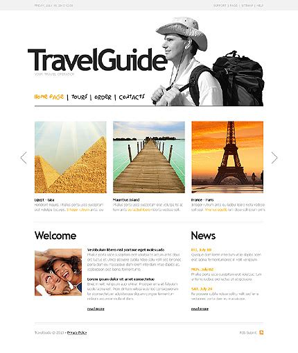 tour template template 27347 travel guide website template