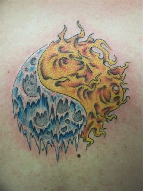fire and ice tattoo and sle ideas