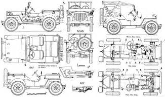 Jeep Willys Dimensions Willys Mb Jeep Blueprint Free Blueprint For 3d